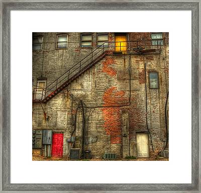 The Three Doors Framed Print