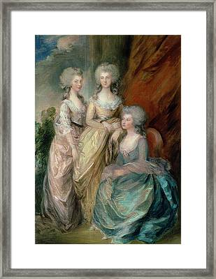 The Three Eldest Daughters Of George Framed Print by Thomas Gainsborough