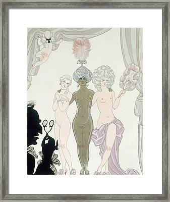 The Three Graces Framed Print by Georges Barbier
