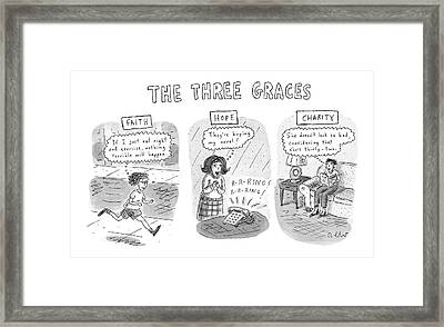 'the Three Graces' Framed Print