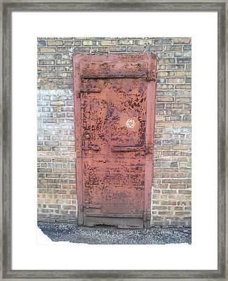 The Three Heart Door. Framed Print