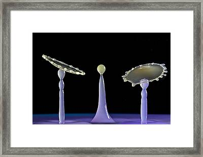 The Three Little Droplets Framed Print by Gemma June