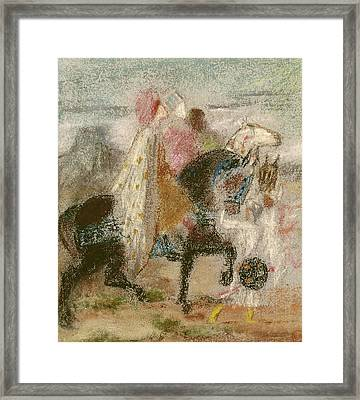 The Three Magi, Started In 1860 And Reworked After 1882 Pastel On Paper Framed Print by Gustave Moreau