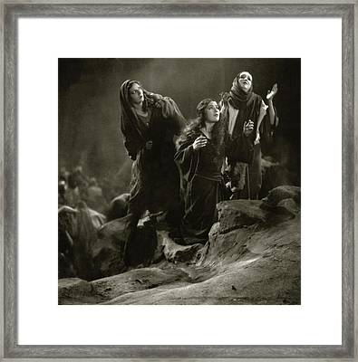 The Three Marys On The Set Of The 'king Of Kings' Framed Print