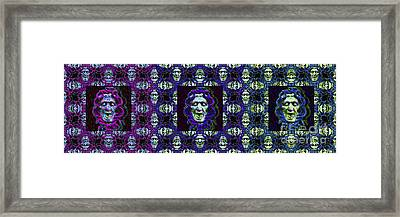 The Three Medusas 20130131 - Horizontal Framed Print by Wingsdomain Art and Photography