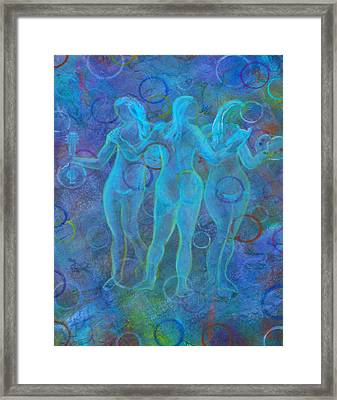 The Three Muses Framed Print by The Art With A Heart By Charlotte Phillips