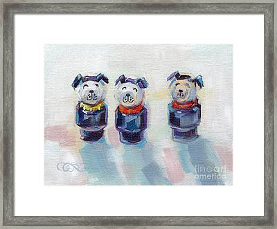 The Three Musketeers Framed Print by Kimberly Santini