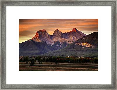 The Three Sisters Canmore Framed Print by Diane Dugas