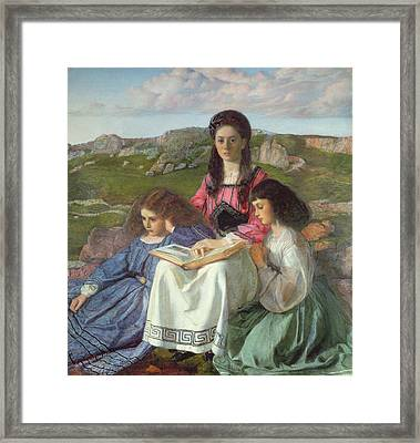 The Three Sisters Of Dean Liddell Framed Print by Sir William Blake Richomond