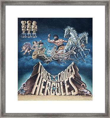 The Three Stooges Meet Hercules Framed Print