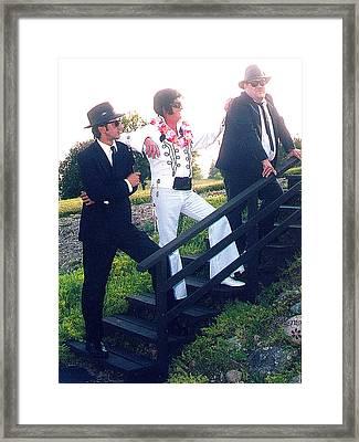 The Three Stooges Framed Print by Randy Rosenberger