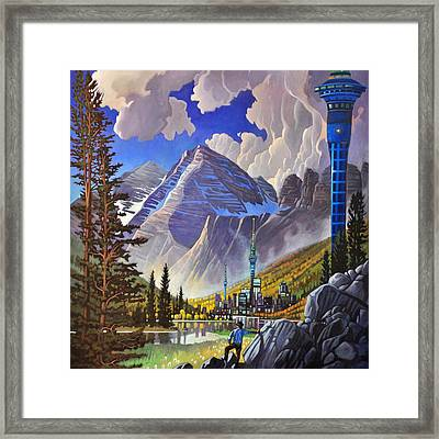 The Three Towers Framed Print by Art James West