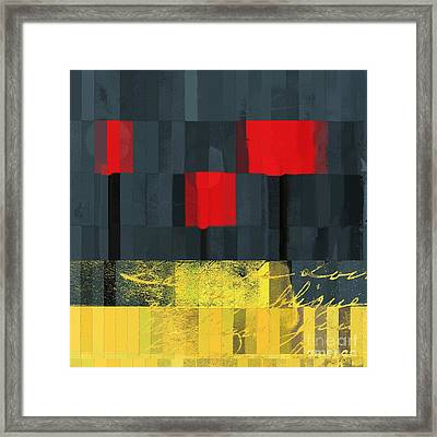 The Three Trees - J021580118  Framed Print by Variance Collections