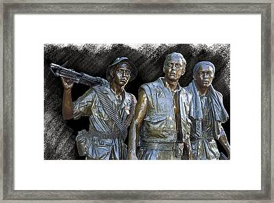 The Three Warriors Of Vietnam Framed Print by Daniel Hagerman