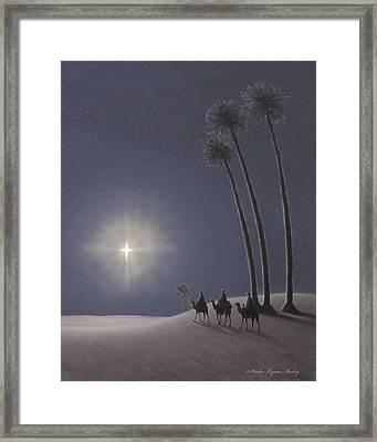 The Three Wise Men Framed Print by Walter Lynn Mosley
