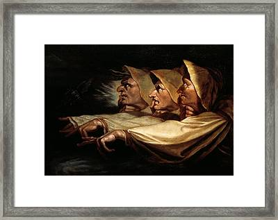 The Three Witches Framed Print by Henry Fuseli