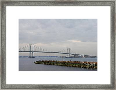 The Throgs Neck Bridge Framed Print by John Telfer