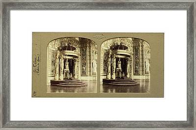 The Throne Palais Du Senat Paris France, Florent Grau Framed Print