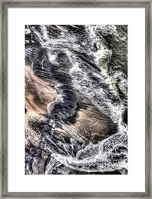 The Tide From Above Framed Print by Bob Hislop