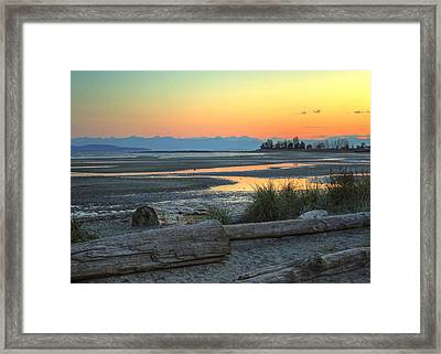 The Tide Is Low Framed Print