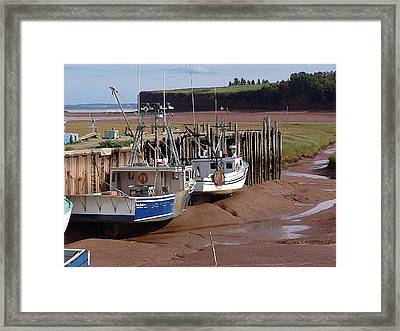 The Tide Is Out Framed Print by Janet Ashworth