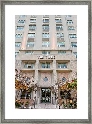The Tides Art Deco Detail South Beach Miami Framed Print