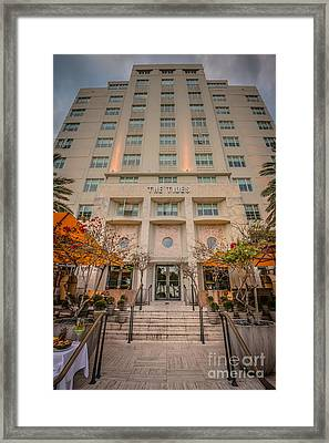 The Tides Art Deco Hotel South Beach Miami - Hdr Style Framed Print