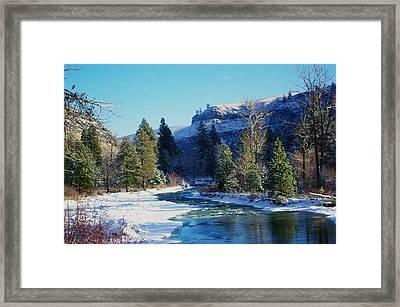 The Tieton River Framed Print