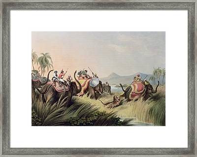 The Tiger At Bay Framed Print by Samuel Howett
