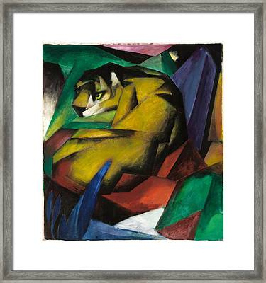 The Tiger Framed Print by Franz Marc