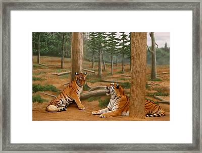 The Tigers Framed Print by Art Spectrum
