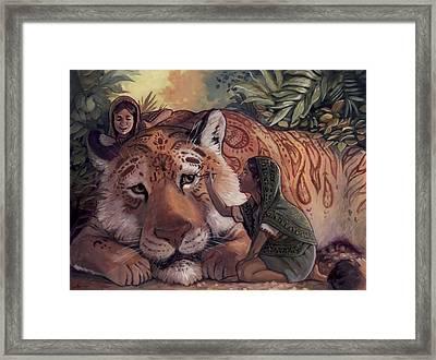 Stripes For Tiger Framed Print