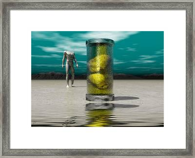 Framed Print featuring the digital art The Time Capsule by John Alexander