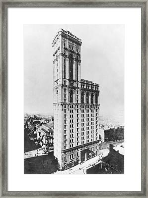The Times Building, New York, C.1900 Bw Photo Framed Print by American Photographer