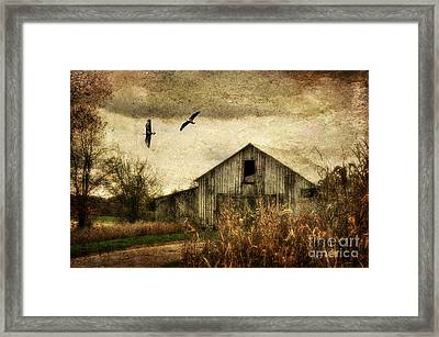 The Times They Are A Changing Framed Print by Lois Bryan