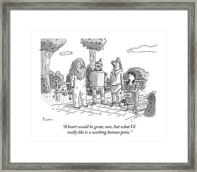 The Tin Man Of The Wizard Of Oz Speaks Framed Print