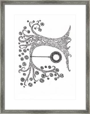 The Tire Swimg Framed Print by Paula Dickerhoff