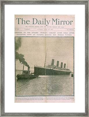 The Titanic Disaster Framed Print by British Library