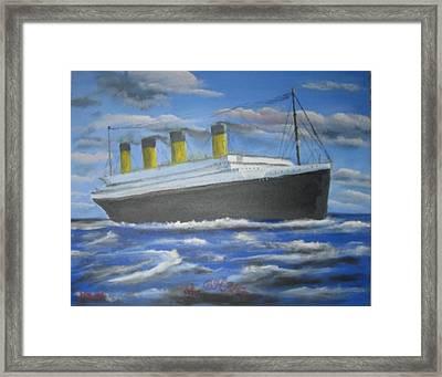 The Titanic Framed Print by M Bhatt