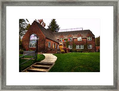 The Tke House On The Wsu Campus Framed Print by David Patterson