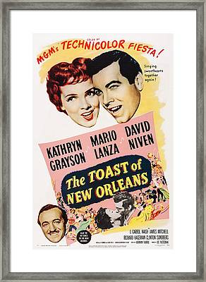 The Toast Of New Orleans, Us Poster Framed Print by Everett