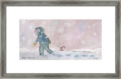 The Toboggan Framed Print by David Dossett