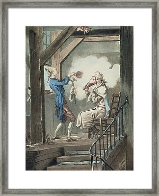 The Toilet Of An Attorneys Clerk Framed Print by Antoine Charles Horace Vernet