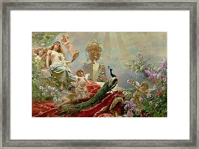 The Toilet Of Venus Framed Print by KE Makovsky