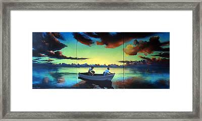 The Tom Benton Fising Fleet Framed Print by Geoff Greene