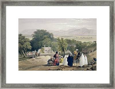 The Tomb Of The Emperor Baber Framed Print by James Atkinson