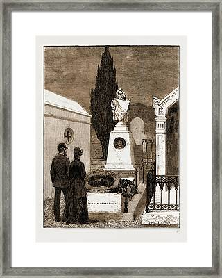 The Tomb Of The Gambetta Family In The Nice Cemetery Framed Print