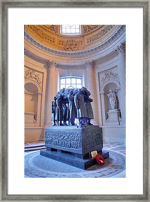 The Tombs At Les Invalides - Paris France - 011316 Framed Print
