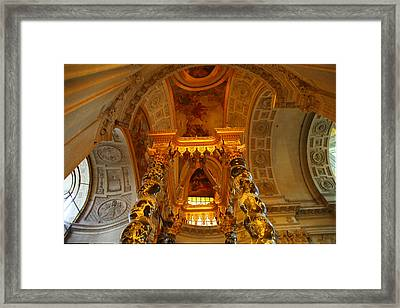 The Tombs At Les Invalides - Paris France - 011324 Framed Print