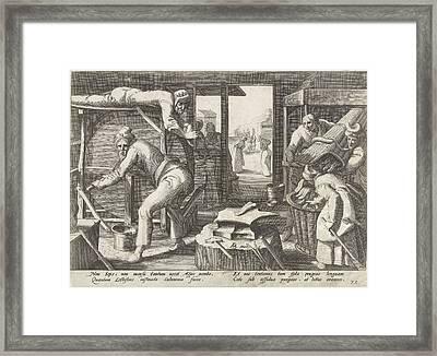 The Tongue Sharpeners, Franco Estius Framed Print by Franco Estius